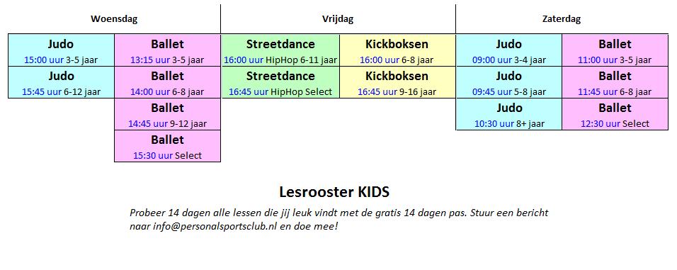 lesrooster KIDS